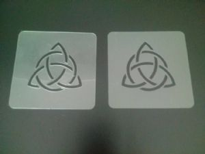 2 x Triquetra stencils for face painting / many other uses   Halloween  Pagan Christianity